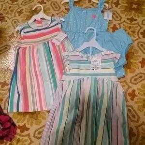 18 month Carter's dress bundle NWT